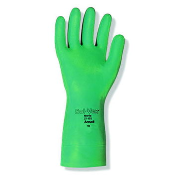 Ansell 37-155 Sol-Vex® Nitrile Immersion Gloves (011206)