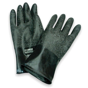 North® B131R Butyl Unsupported Chemical-Resistant Nitrile Gloves (011210)