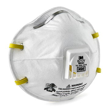3M™ Disposable Particulate Respirator 8210V, N95 w/ 3M Cool Flow™ Exhalation Valve (011421)