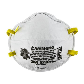3M™ Disposable N95 Braided Headbands, 8210 PLUS Particulate Respirator (011425)