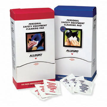 Allegro® 5 x 8 Alcohol-Free Respirator Cleaning Wipes (011366)