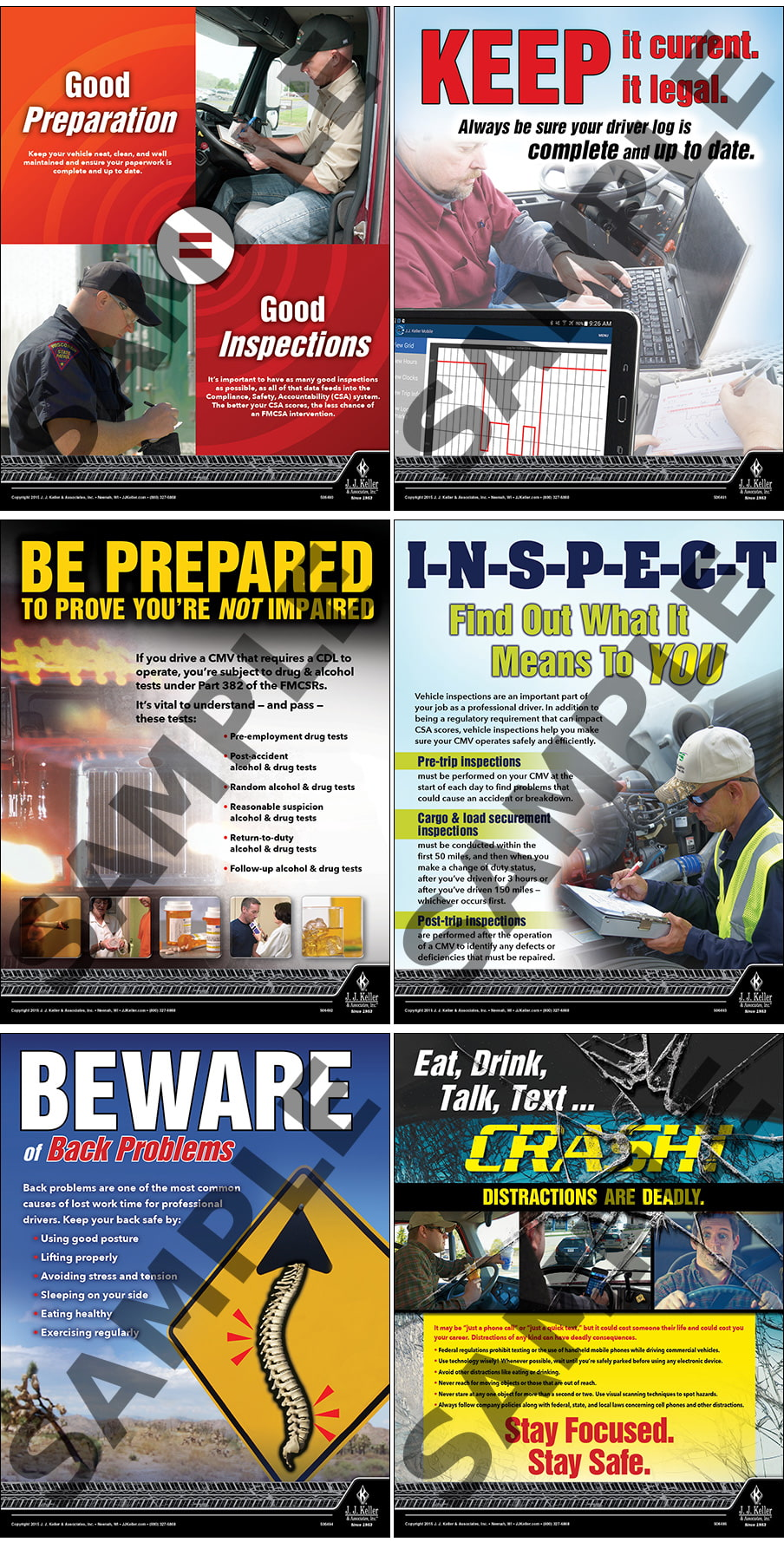 Transportation Safety Poster Set - Laminated (011483)