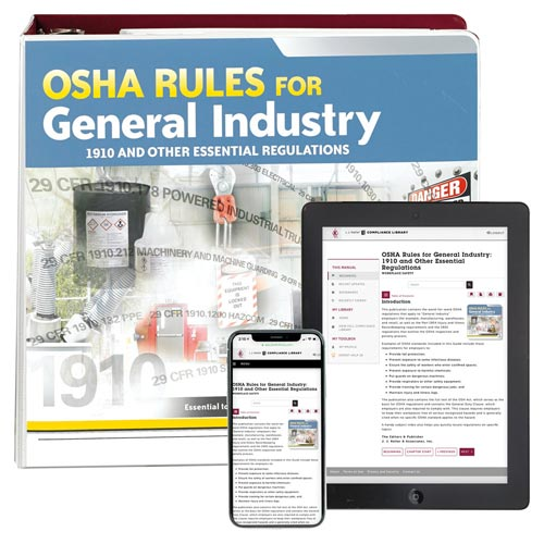 OSHA Rules for General Industry: 1910 and Other Essential Regulations Guide (01513)