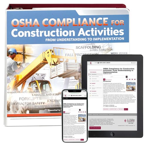 OSHA Compliance for Construction Activities Manual (00503)