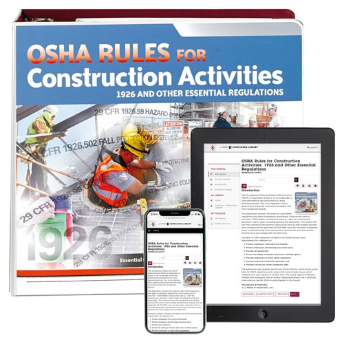 OSHA Rules for Construction Activities Manual (00486)