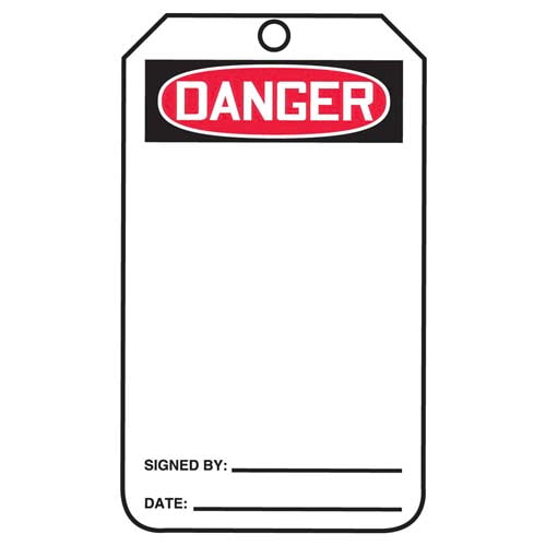 Danger: Blank on Both Sides - OSHA Safety Tag (011590)