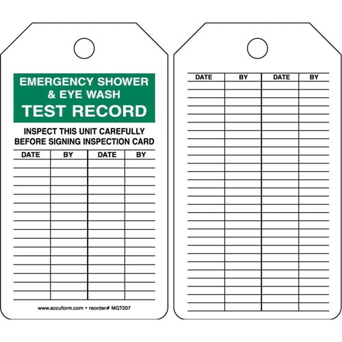 Emergency Shower & Eye Wash - Safety Tag (011593)