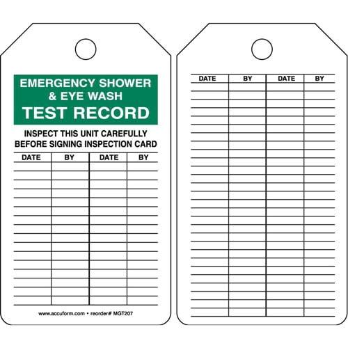Emergency Shower Amp Eye Wash Safety Tag