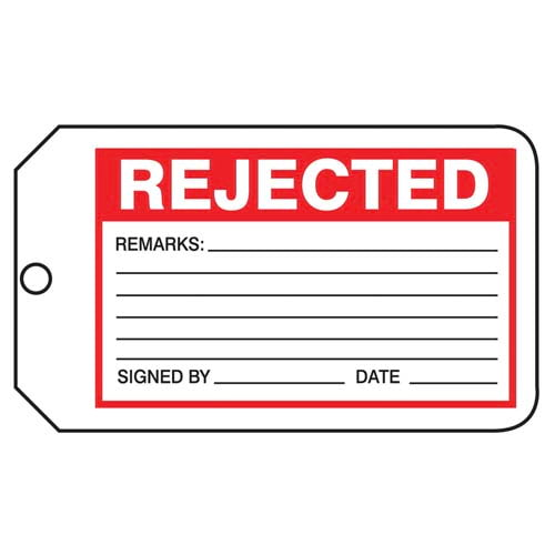 Rejected - Safety Tag (011597)
