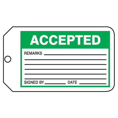 Accepted - Safety Tag (011598)