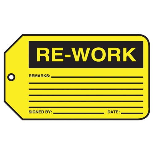 Re-Work - Safety Tag (011599)