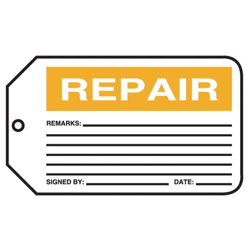 Repair - Safety Tag (011601)