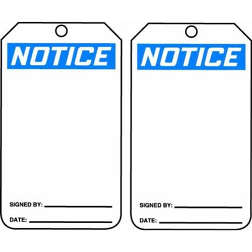 Notice - OSHA Safety Tag (011602)