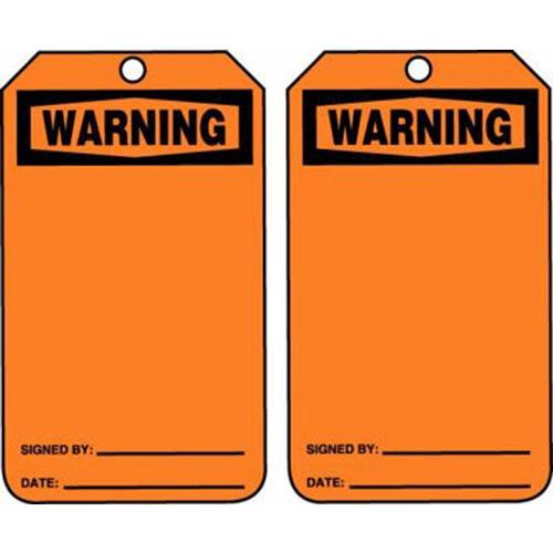 Warning - OSHA Safety Tag (011603)