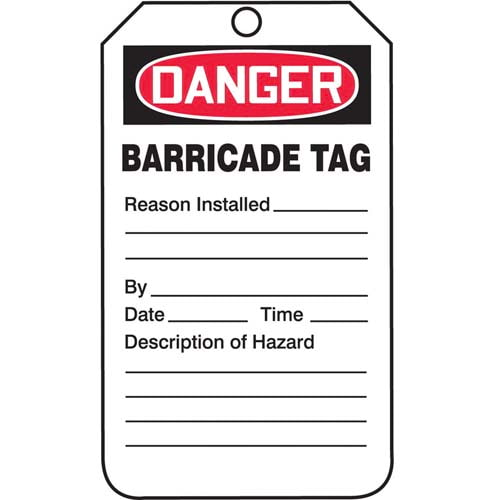 Danger: Barricade Tag - OSHA (011604)