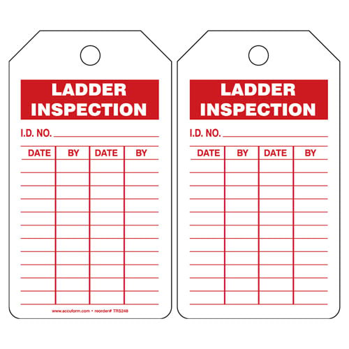 Ladder Inspection and Record - Safety Tag (011608)