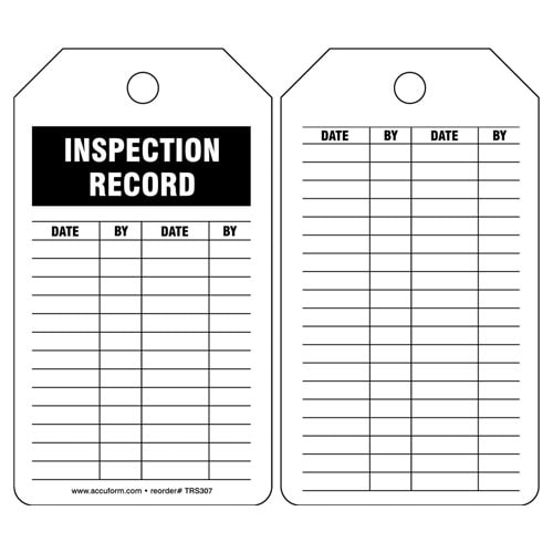 Inspection Record - Safety Tag (011610)