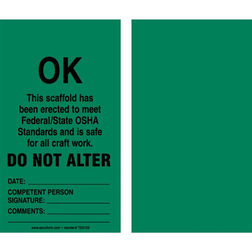 OK: Do Not Alter - Safety Tag (011614)
