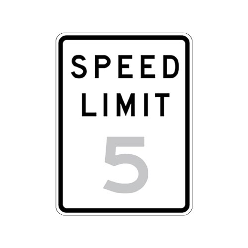 Speed Limit 5 Sign (010184)