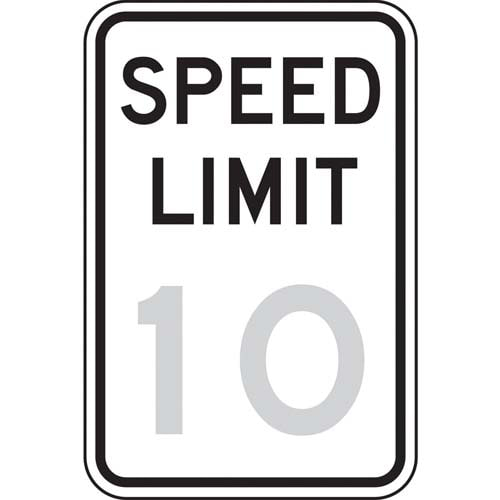 Speed Limit 10 Sign (010185)