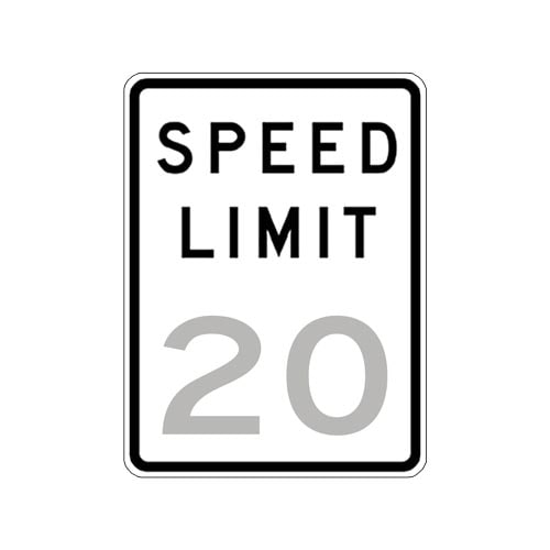 Speed Limit 20 Sign (010187)