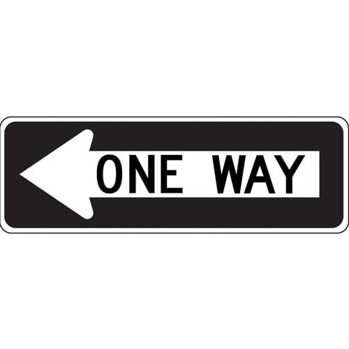 One Way (Arrow Left) - Traffic Sign (010193)