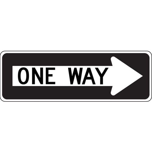 One Way Sign - Right Arrow (010194)