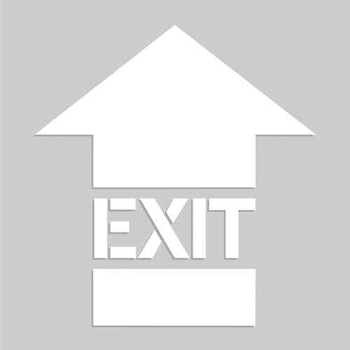 Exit Arrow - Floor Stencil (010200)