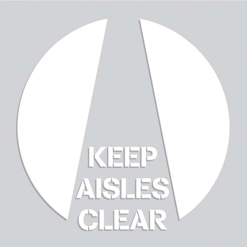 Keep Aisles Clear - Floor Stencil (010201)