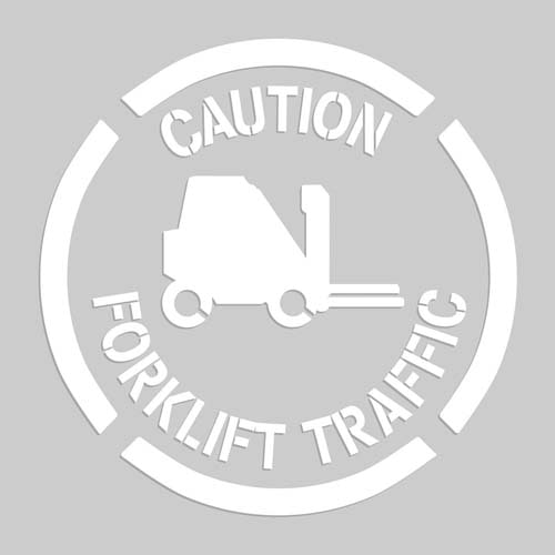 Caution: Forklift Traffic - Floor Stencil (010202)