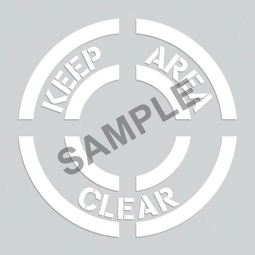 Keep Area Clear - Floor Stencil (010203)