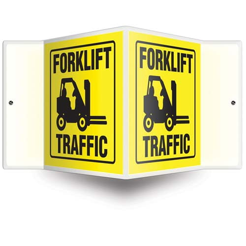 Forklift Traffic Sign - 3D Projection (010206)