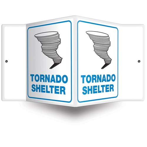 Tornado Shelter Sign - 3D Projection (010208)