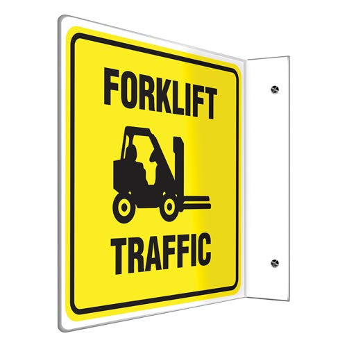 Forklift Traffic Sign - Projection (010209)