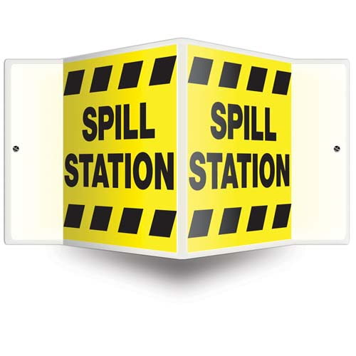 Spill Station - Projection Sign (010217)
