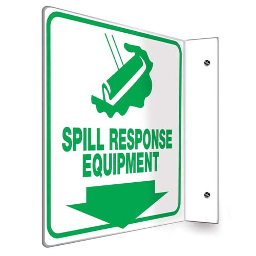 Spill Response Equipment Sign - Projection (010225)