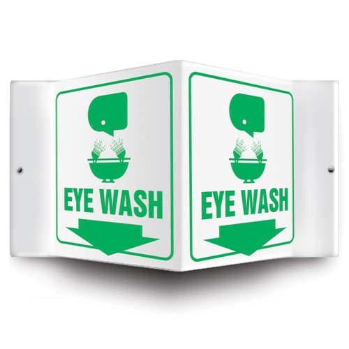 Eye Wash Sign - 3D Projection (010226)