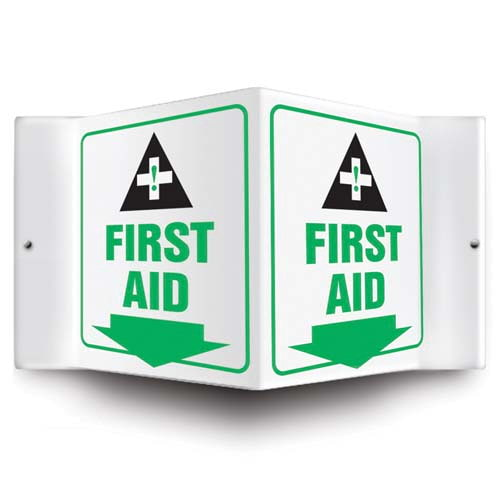 First Aid Sign - 3D Projection (010228)