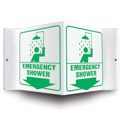 Emergency Shower Sign - 3D Projection (010229)