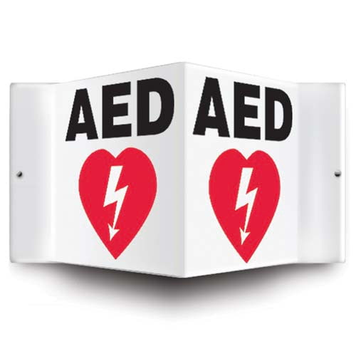 AED Sign - 3D Projection (010230)