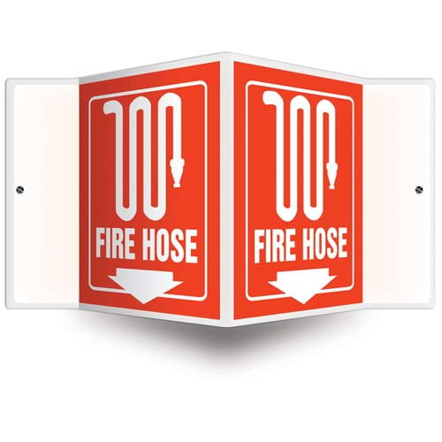 Fire Hose Sign - 3D Projection (010232)