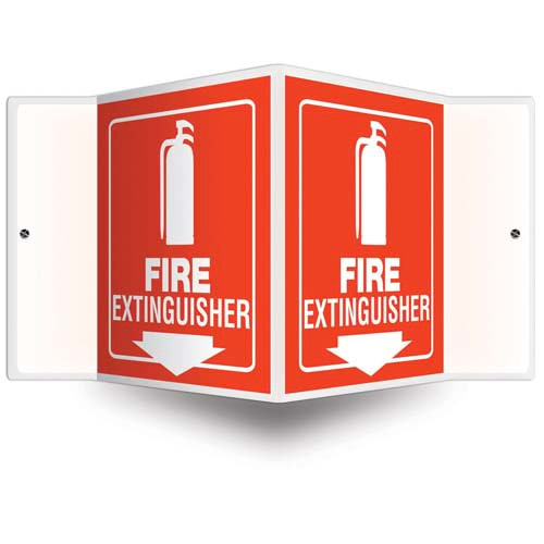 Fire Extinguisher Sign - 3D Projection (010234)