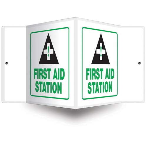 First Aid Station Sign - 3D Projection (010235)