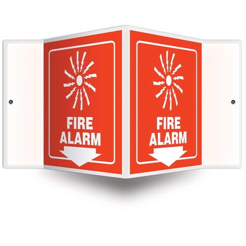 Fire Alarm Sign - 3D Projection (010236)