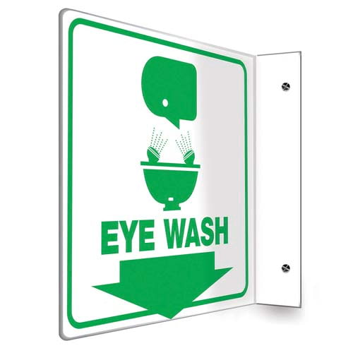 Eye Wash Sign - Projection (010237)