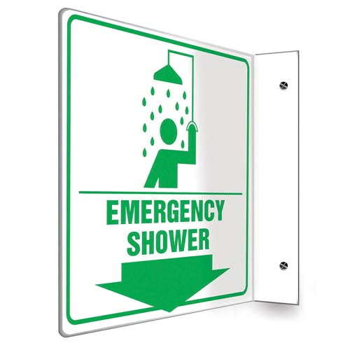 Emergency Shower Sign - Projection (010241)