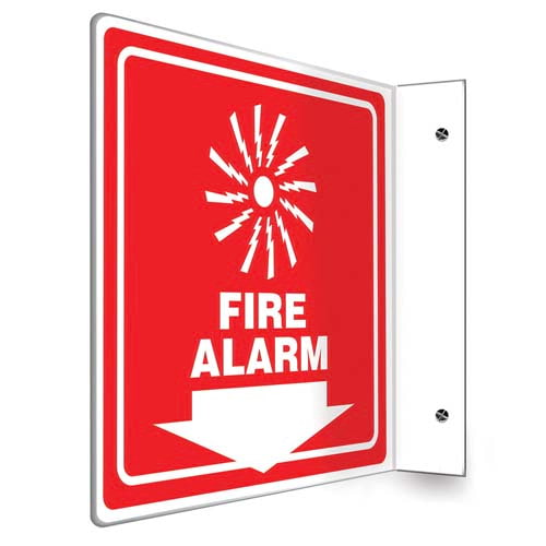 Fire Alarm - Projection Sign (010247)
