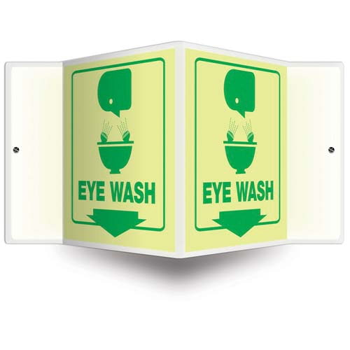 Eye Wash - Glow-In-The-Dark Projection Sign (010250)