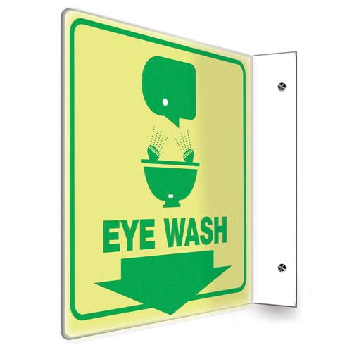 Eye Wash - Glow-In-The-Dark Projection Sign (010253)