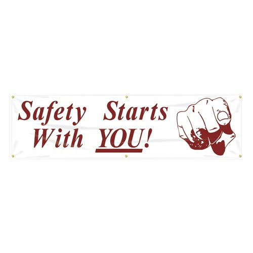 Safety Starts With You Banner (010259)